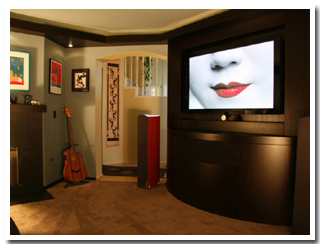 Custom Home Theater and Entertainment Cabinets contemporary