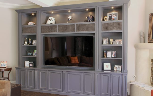 Merveilleux Custom Painted Home Theater And Entertainment Cabinetry