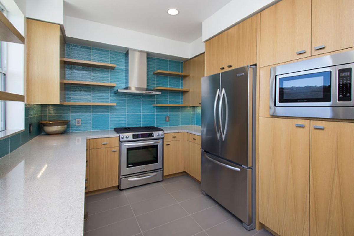 Custom Rift Oak Kitchen Cabinets | Doopoco Enterprises